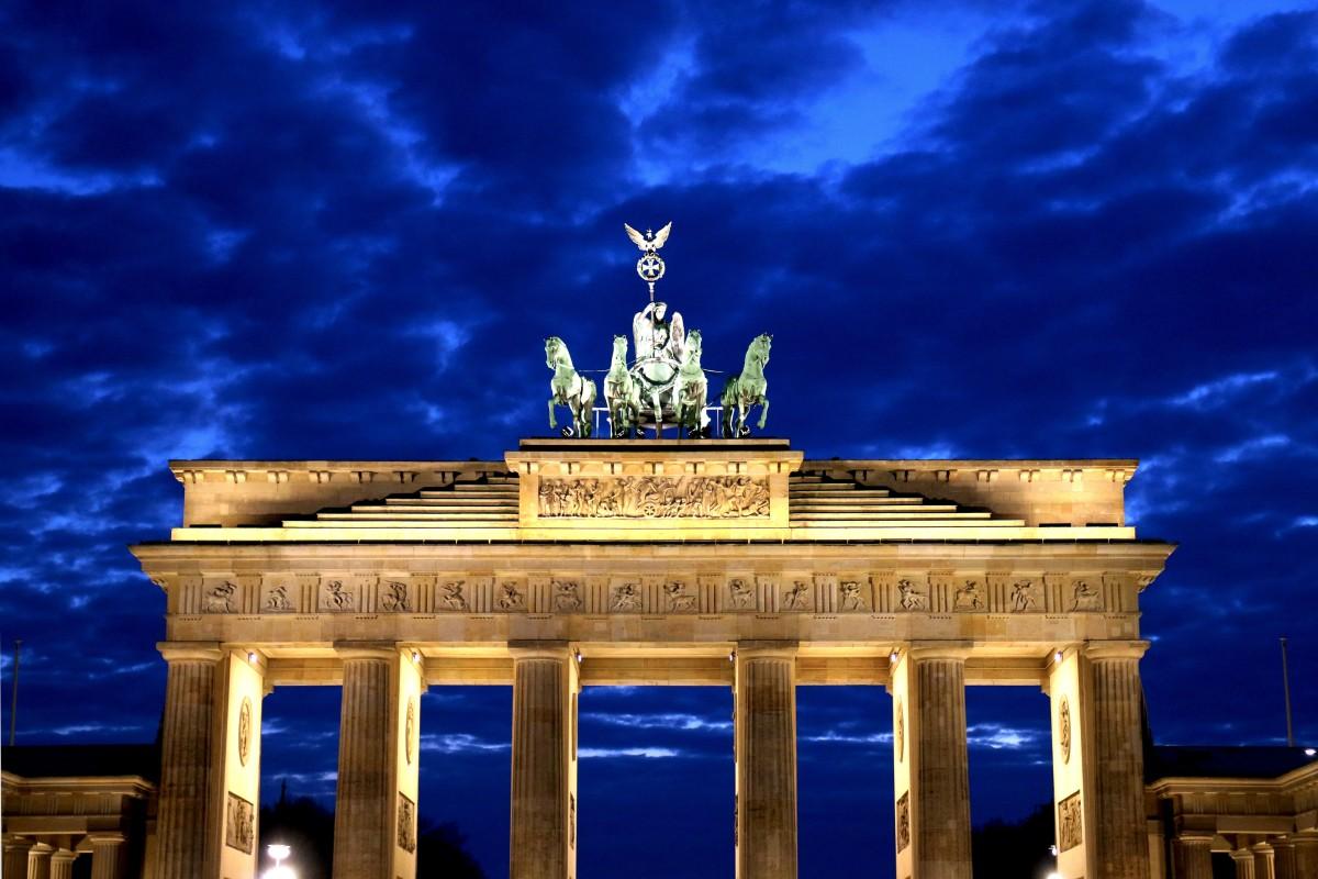 Brandenburg Gate in Berlin, Germany at night