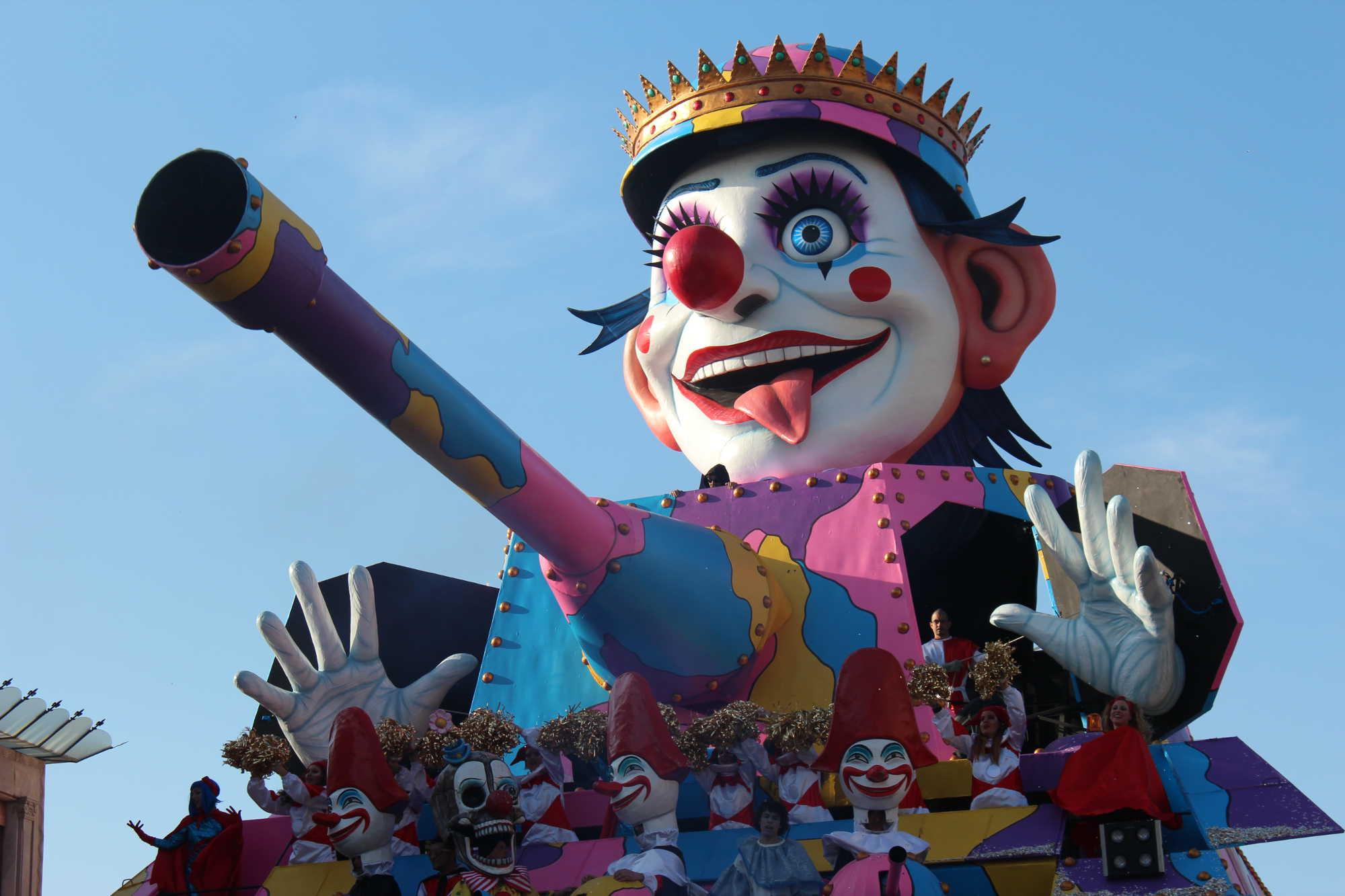 Mardi Gras Clown Float, Viareggio, Tuscany, Italy