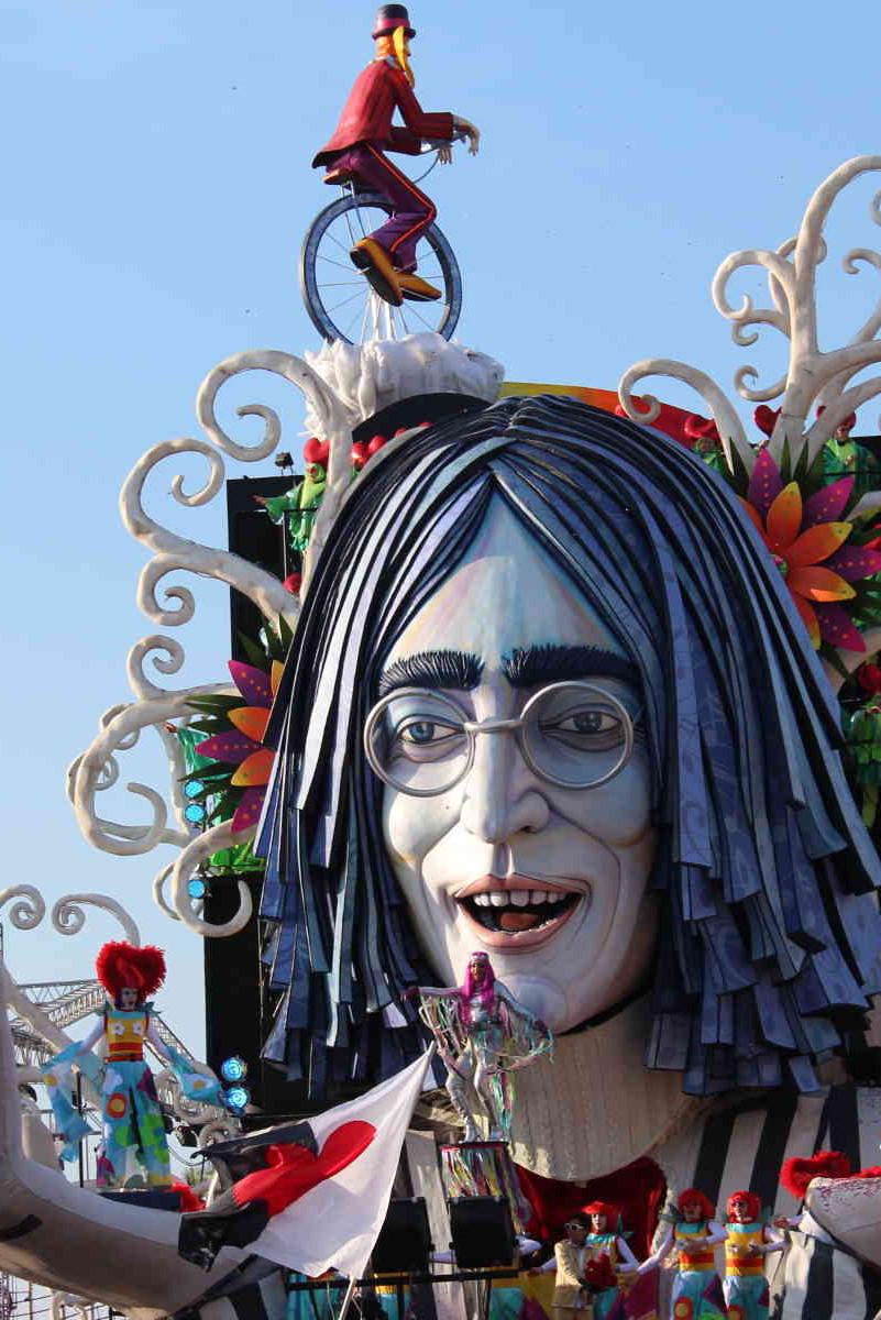 John Lennon Float Carinvale di Viareggio Florence Italy