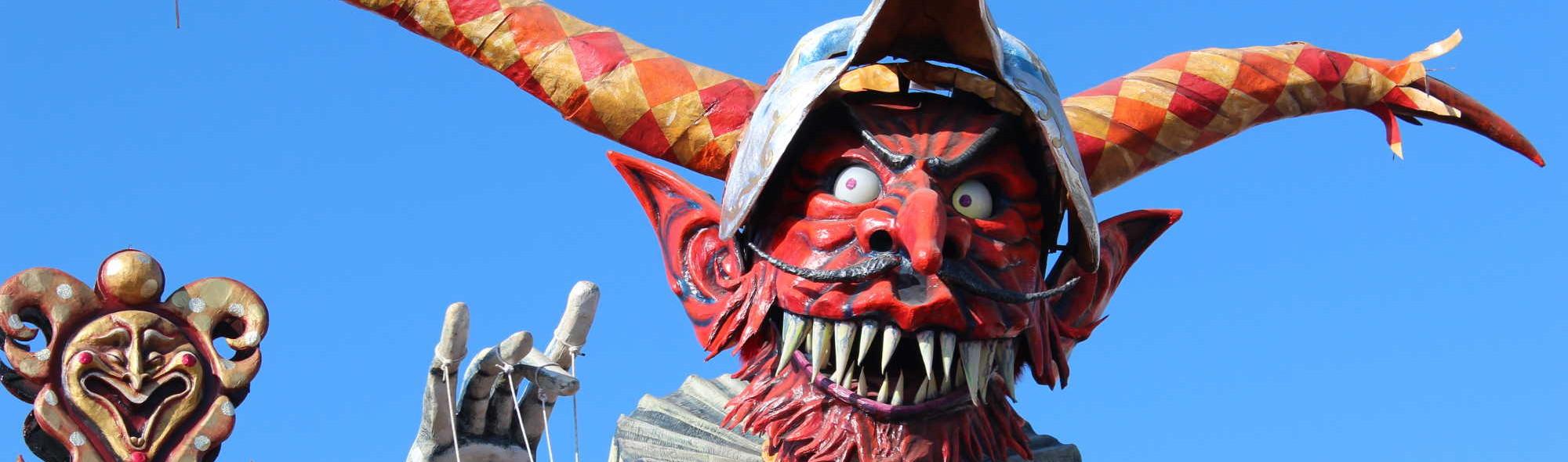 Red Devil Float, Carnevale di Viareggio, Tuscany, Italy