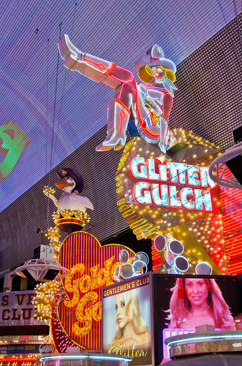 Glitter Gulch, Fremont Street, Las Vegas, Nevada