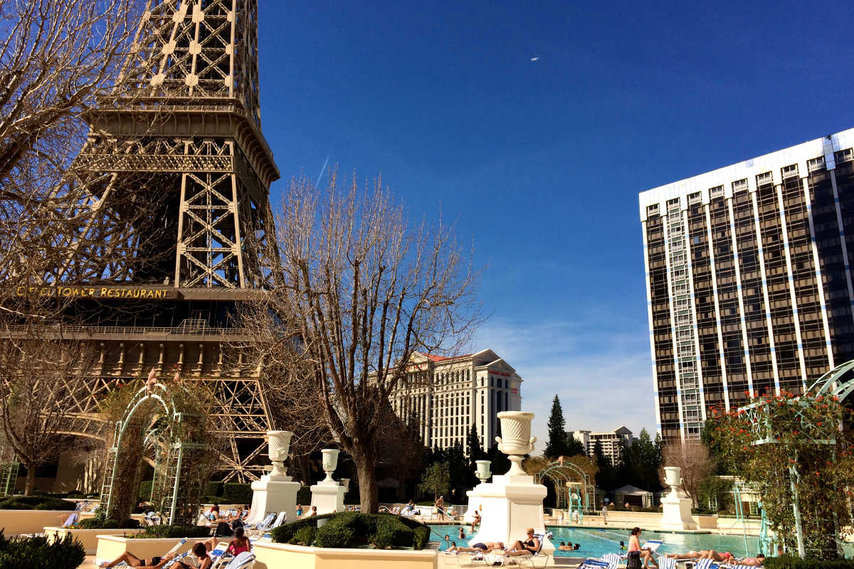 paris las vegas pool, las vegas, nevada