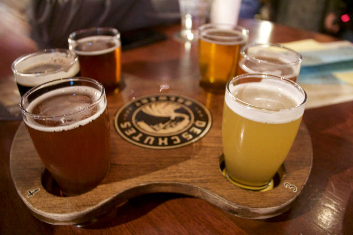 deschutes beer samples weird weekend in portland oregon