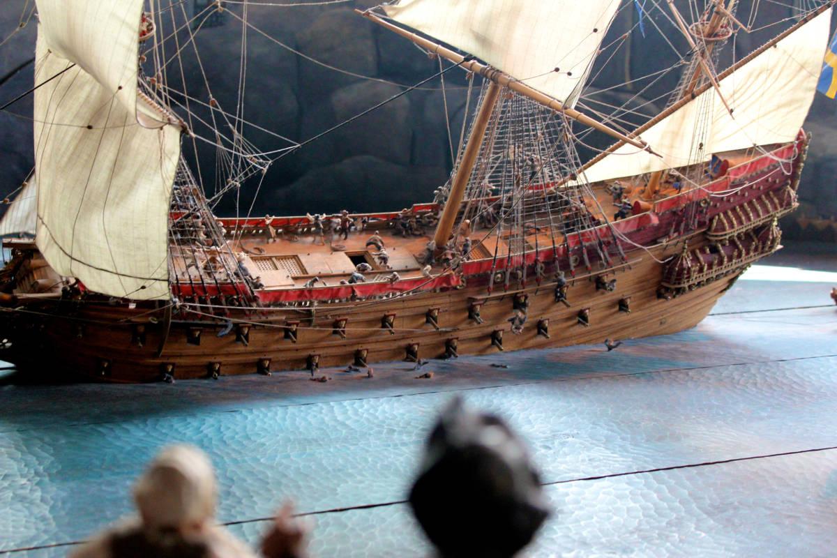 vasa sinking model stockholm sweden