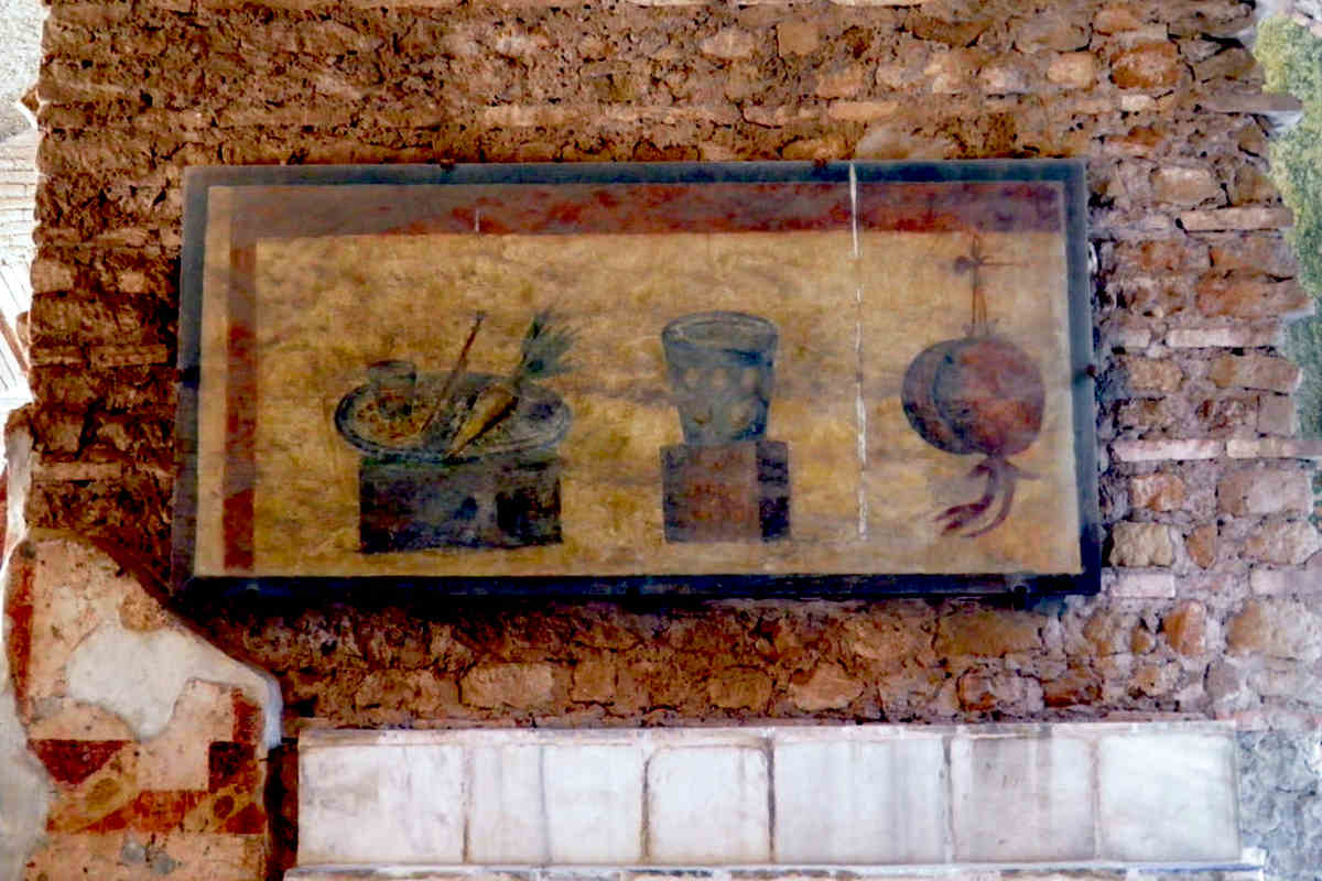archaeological sites in italy bar ostia antica fresco
