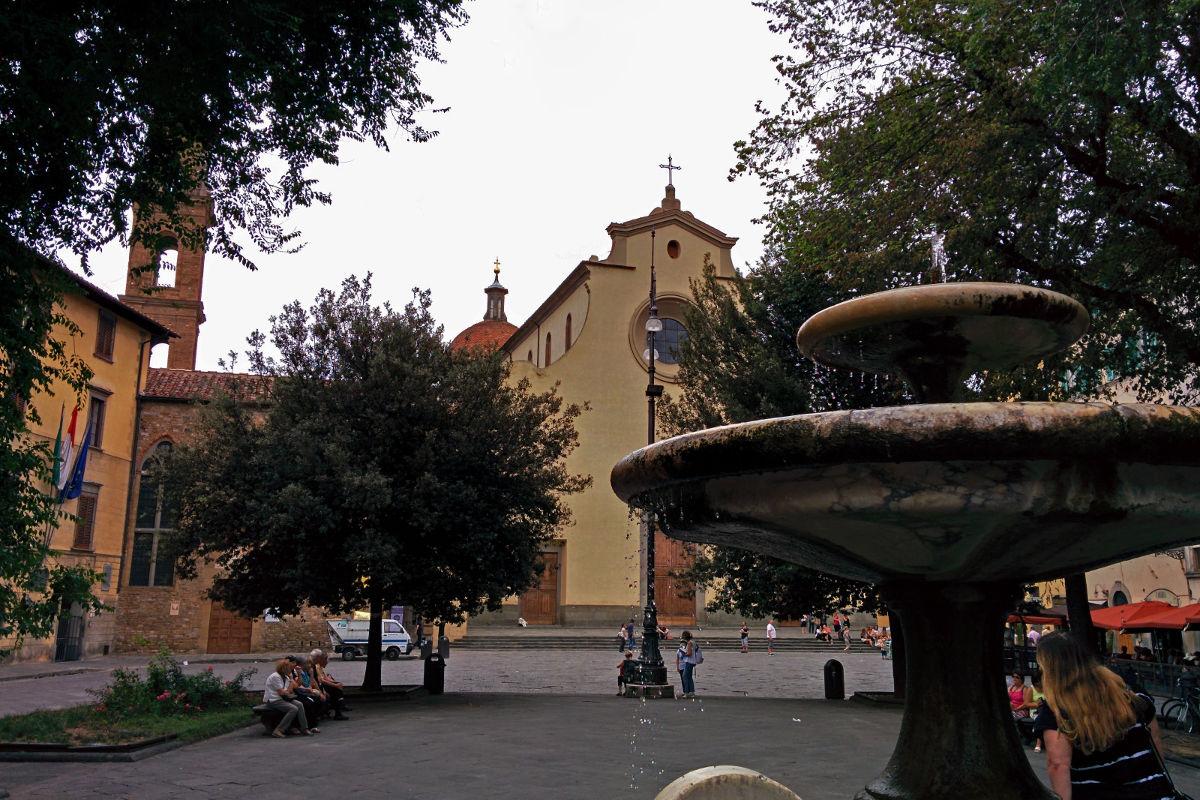 piazza santo spirito florence tuscany italy