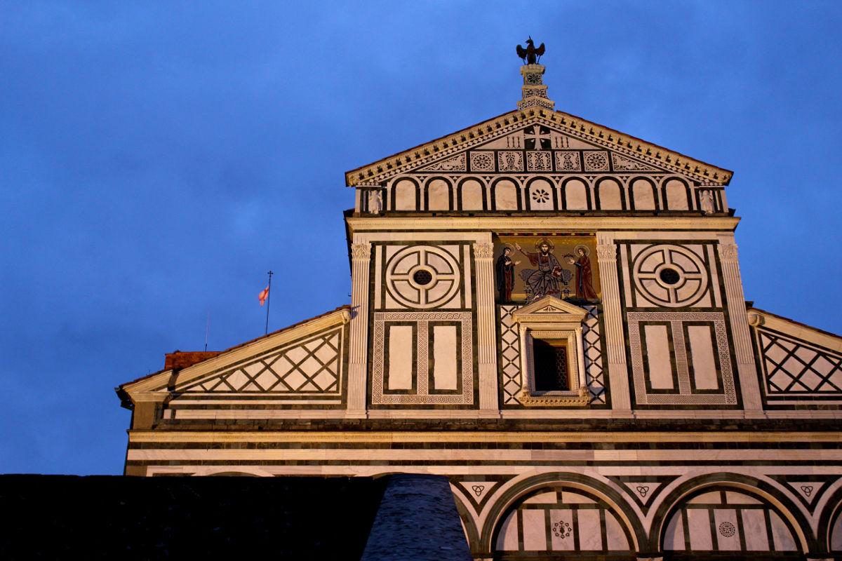 san miniato facade florence tuscany italy