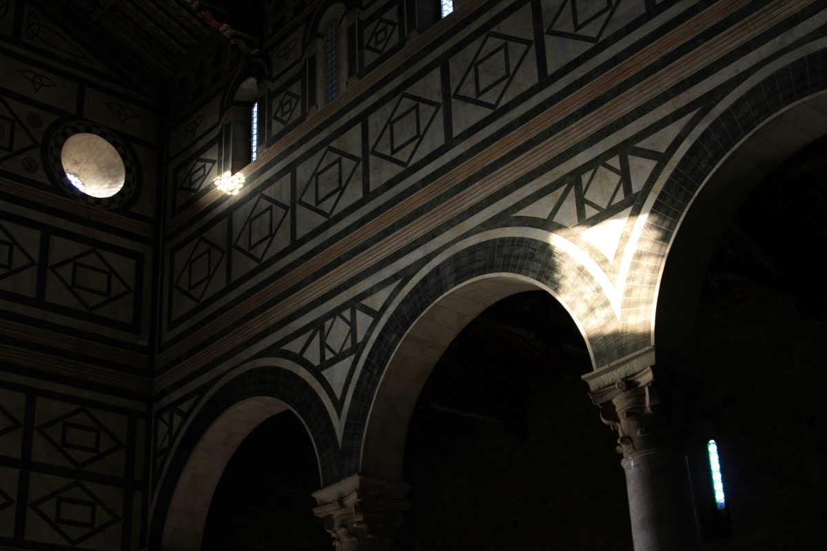 san miniato interior light florence tuscany italy