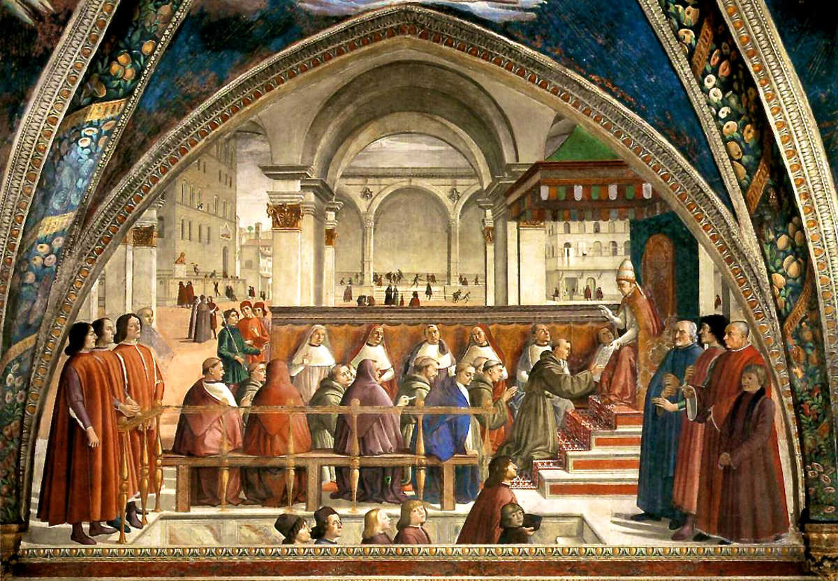 sassetti chapel confirmation of the franciscan rule santa trinita florence tuscany italy