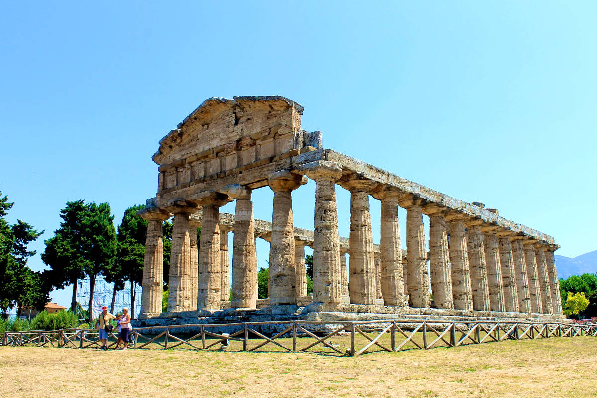 archaeological sites in italy temple of ceres paestum