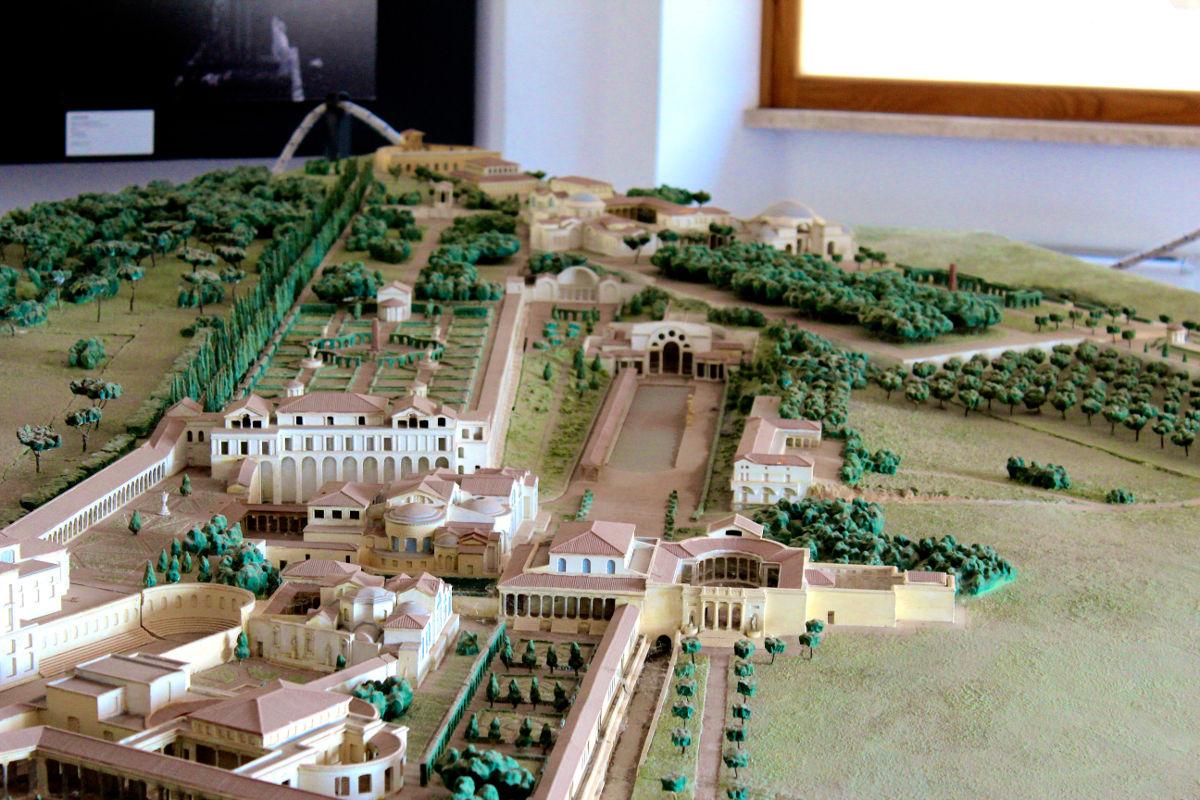 archaeological sites in italy tivoli model villa adriana hadrian italy