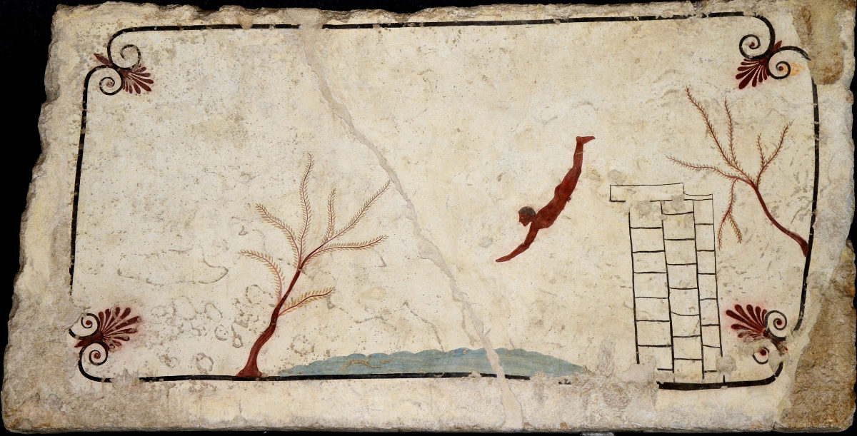 archaeological sites in italy tomb of the diver paestum