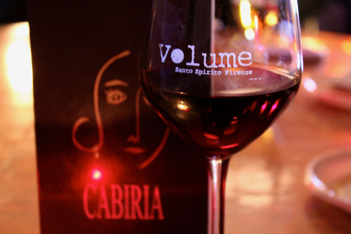 volume cabiria wine glass florence tuscany italy