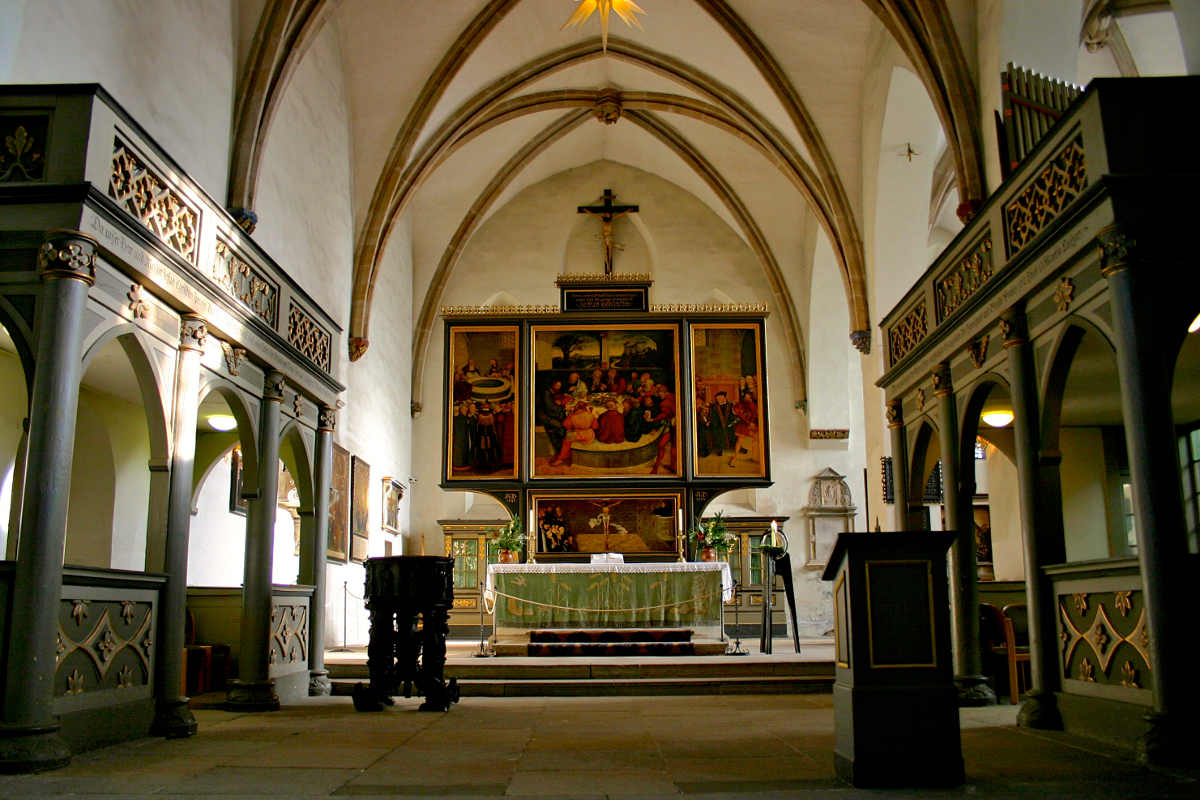 Altarpiece Stadtkirche Wittenberg. History comes alive