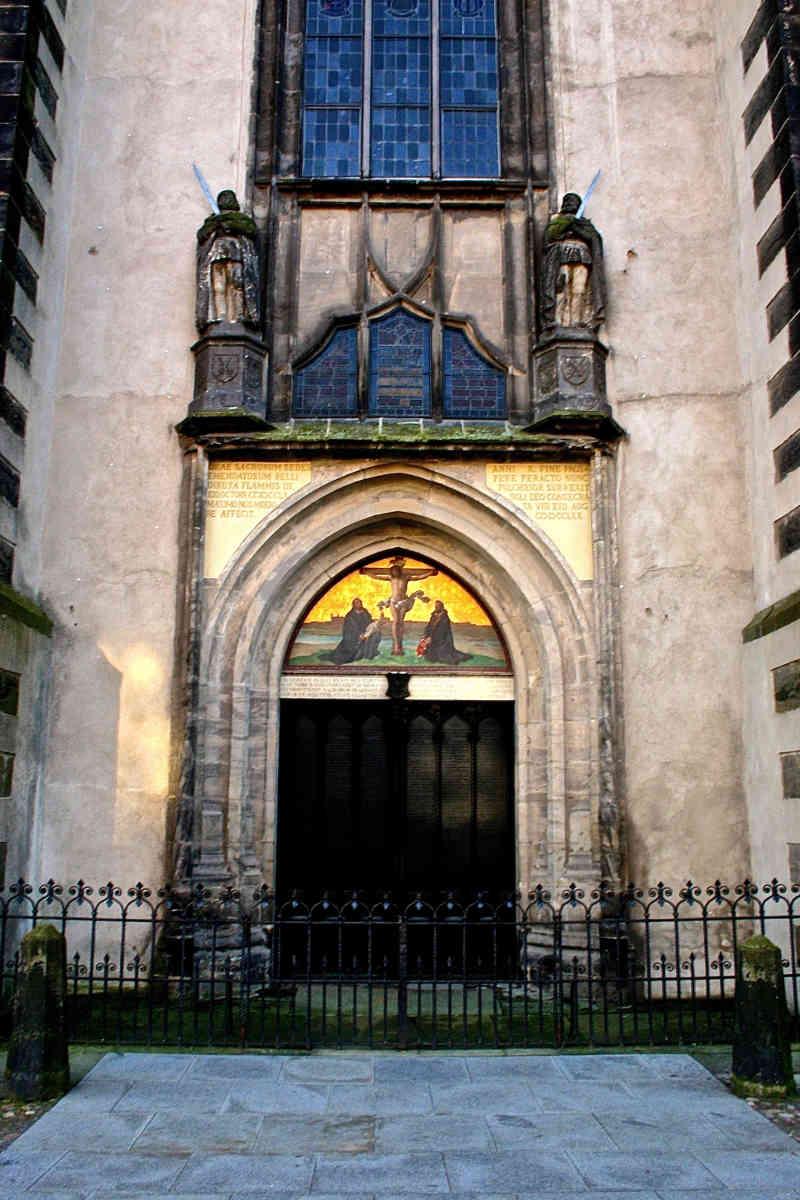 Door of Schlosskirche Wittenberg. History comes alive