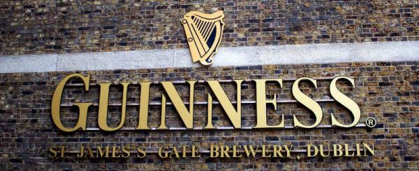 Guinness Brewery sign Dublin Ireland
