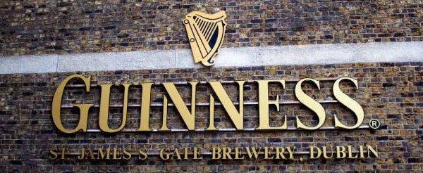 Guinness Brewery sign Dublin Ireland
