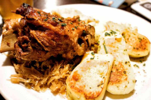 Roasted Pork Knuckle Bratislava Slovakia best things i ate while traveling