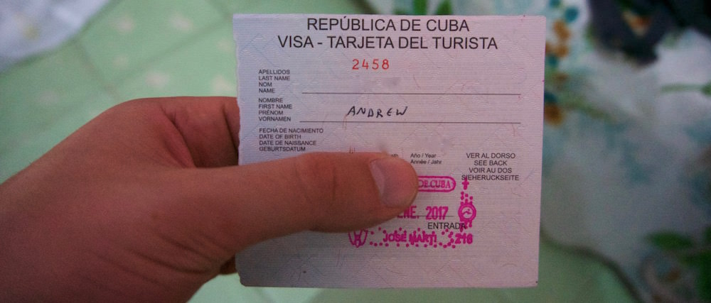 Cuban Visa - Travel to Cuba in 2019