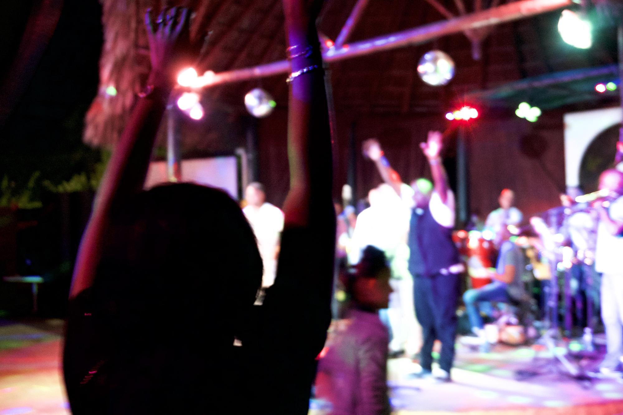 Salsa concert Varadero. Daily life in Cuba