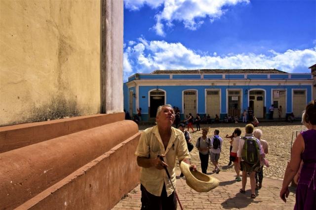 Beggar in Trinidad. Daily life in Cuba.