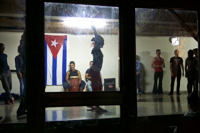 Late night dance lessons in Havana. Daily life in Cuba.