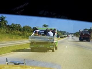 Transportation on Cuban highways. Daily life in Cuba.