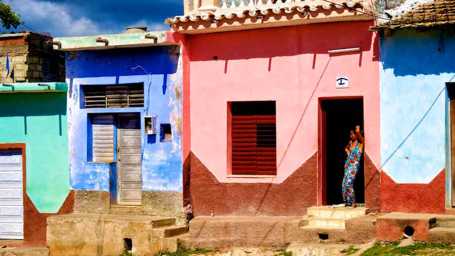 woman on streets trinidad daily life in cuba