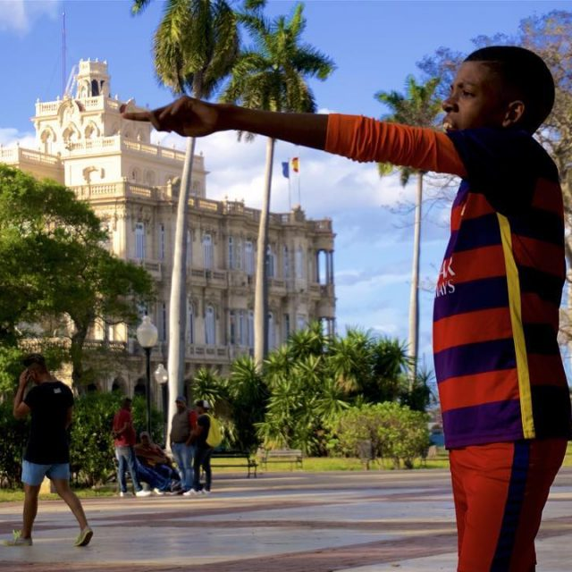 Children playing in downtown Havana Cuba
