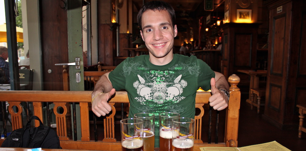 Beers while living in Berlin - You don't have to be rich to travel well