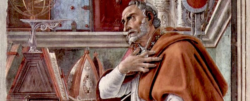Botticelli Painting of Saint Augustine - The World is a book, and those who do not travel read only one page