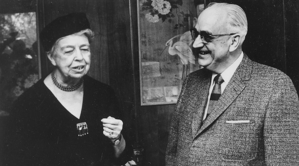 Eleanor Roosevelt and Karl A Menninger - Fears are educated into us and can if we wish be educated out