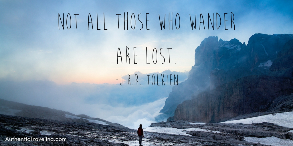 Jrr Tolkien Travel Quote Of The Week Authentic Traveling