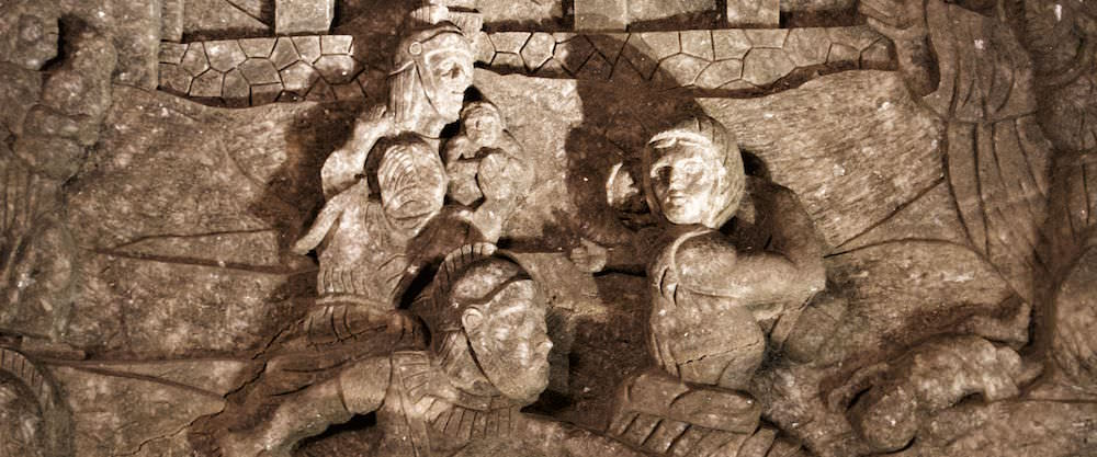 Salt Rock Sculptures - Visiting the Wieliczka Salt Mine