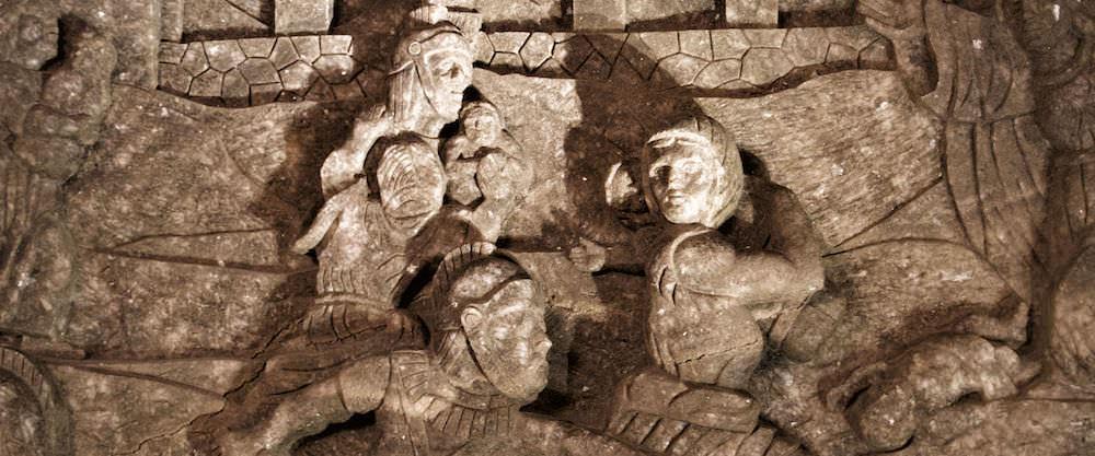 Salt Rock Sculptures - Visiting the Wieliczka Salt Mine