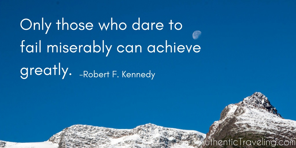 Only those who dare to fail miserably can achieve greatly LARGE