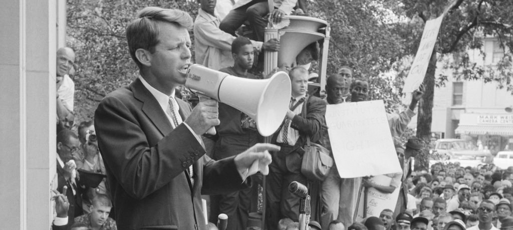 Robert F Kennedy Giving a Speech - Only those who dare to fail miserably can achieve greatly