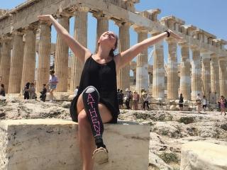 Devon enjoying the view atop the Acropolis, Athens.