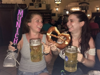 Devon having a beer in Munich.