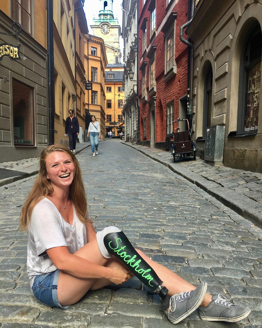 Devon in Stockholm's Gamla Stan.