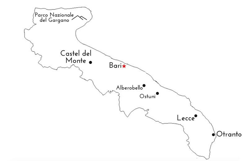 Map of Puglia - Quick Travel Guide to Puglia - 7 Otranto