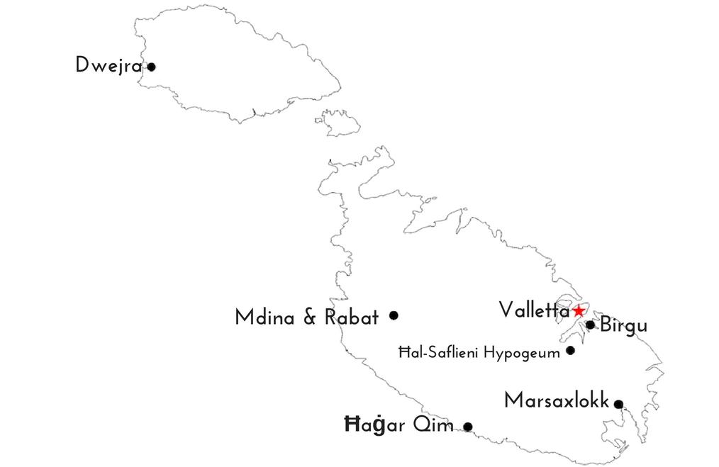 Quick Guide to Malta - Map of Malta