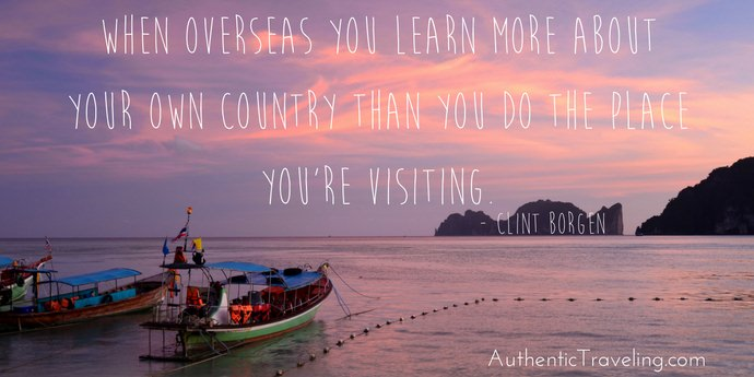 Clint Borgen - Best Travel Quotes - Authentic Traveling