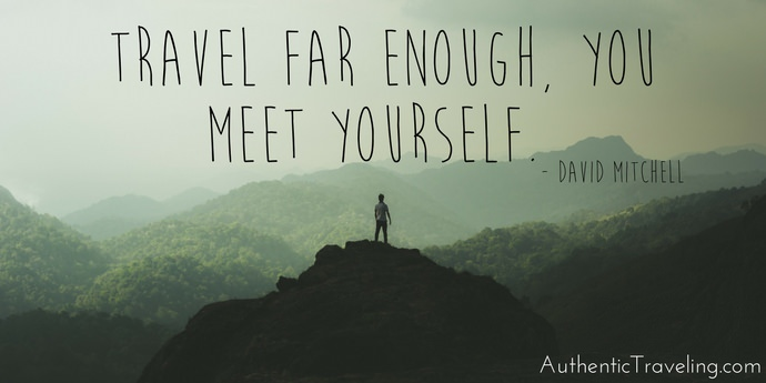 David Mitchell - Best Travel Quotes - Authentic Traveling