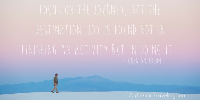 Greg Anderson - Best Travel Quotes - Authentic Traveling
