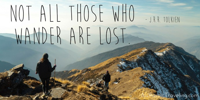 JRR Tolkien - Best Travel Quotes - Authentic Traveling