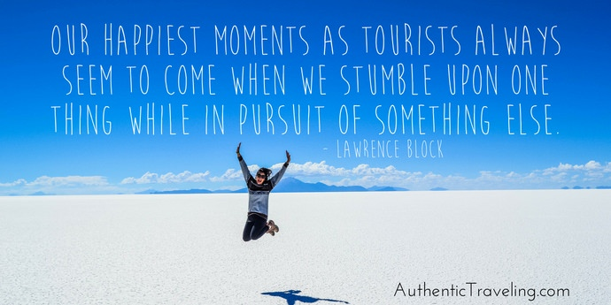 Lawrence Block - Best Travel Quotes - Authentic Traveling