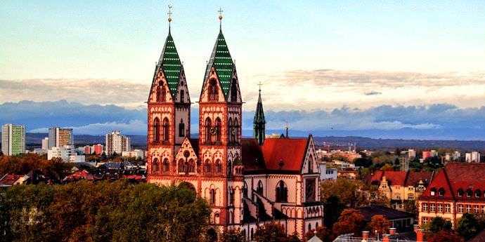 Biking Across Europe - Freiburg Cityscape - Authentic Traveling