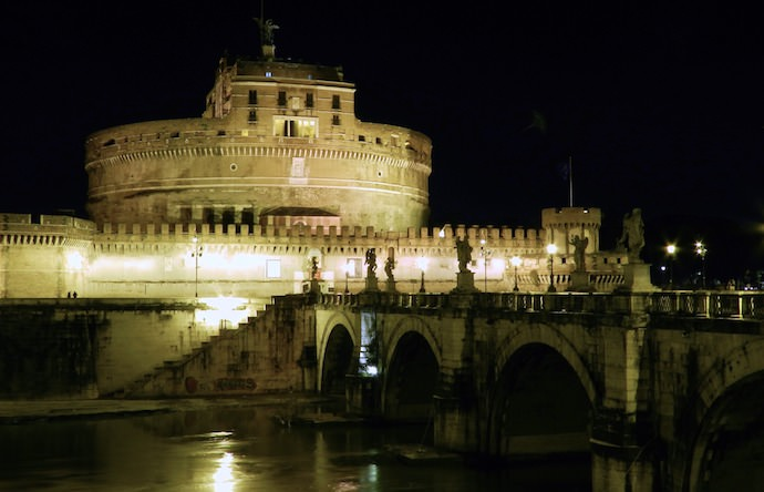 How to Save Money and Avoid Crowds in Rome - Castel San Angelo Night - Authentic Traveling