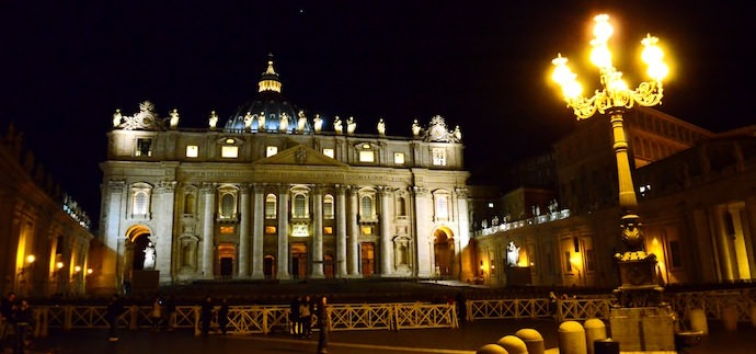 How to Save Money and Avoid Crowds in Rome - Piazza San Pietro at Night - Authentic Traveling